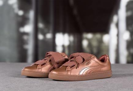 puma basket copper