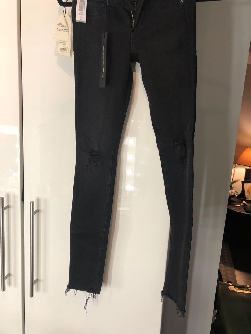 Rag & Bone black distressed Legging Jeans - Size 25-
