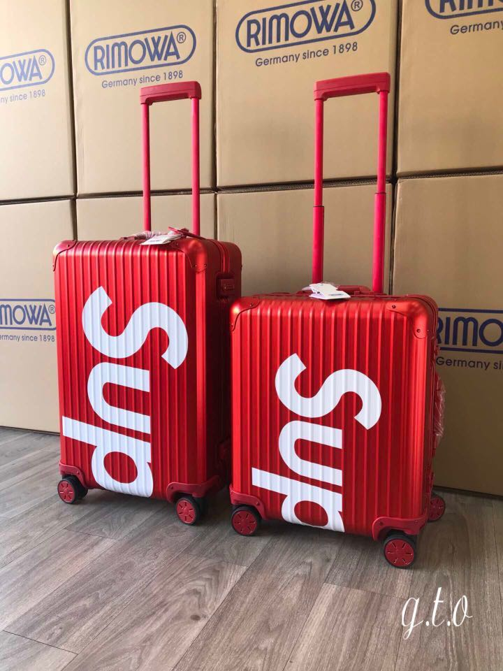"""a27270b42 Rimowa X Supreme Luggages, Limited Edition, 22"""" And 28"""", Travel ..."""