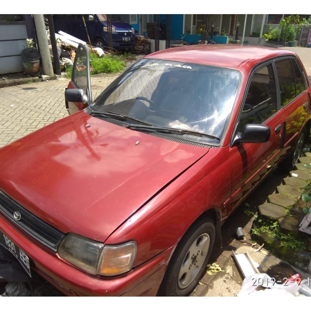 Starlet Kapsul NEGO 1300cc 1990 Pajak Panjang, CL, EM, PW