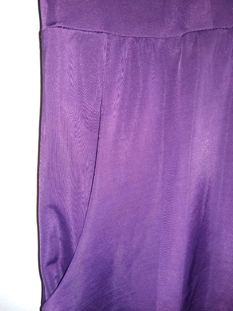 Stretch atasan ungu sepinggang