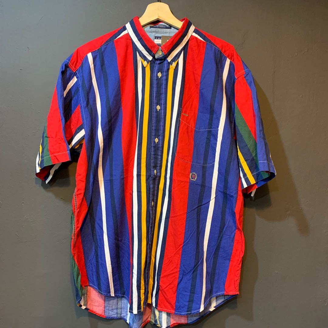 73c1e199121 Tommy Hilfiger Multi Colorblock Shirt, Men's Fashion, Clothes, Tops ...