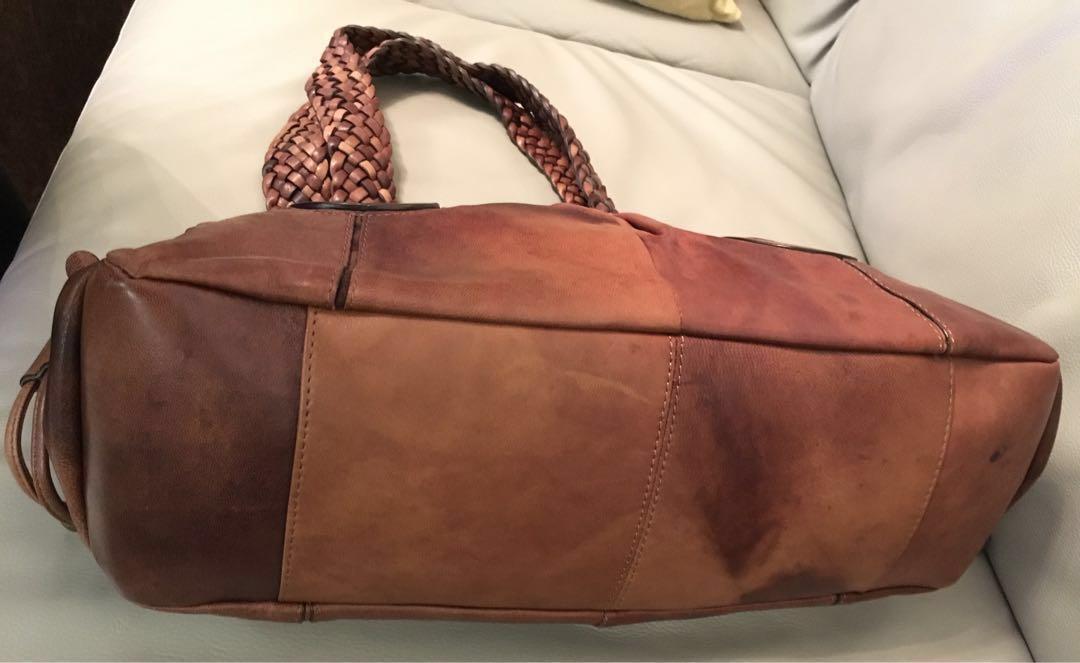 Trendy leather handbag