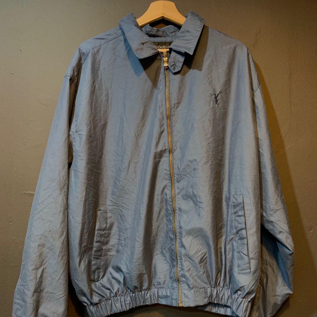 2edcade54 Vintage YSL Navy Zip Jacket, Men's Fashion, Clothes, Outerwear on ...