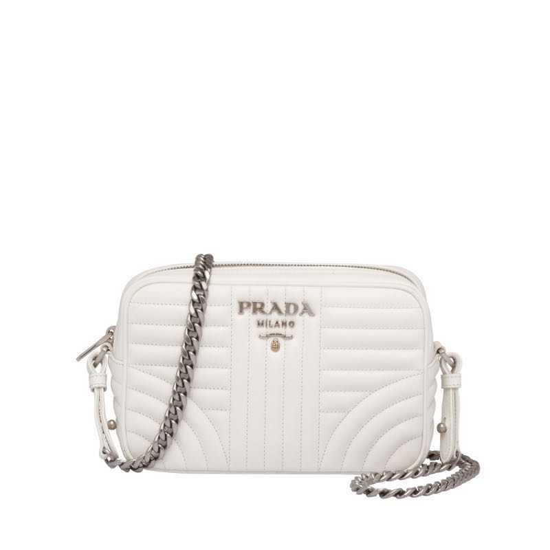 ad266ceb1b1507 With receipt 💯 Authentic Prada diagramme camera bag white crossbody ...