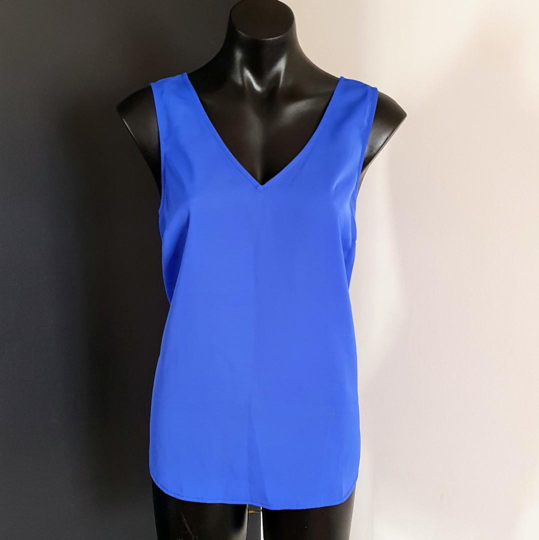 Women's size 12 'PORTMANS' Stunning royal blue cami top - AS NEW