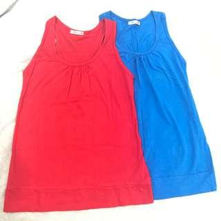Red and blue tank top