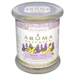 🚚 Aroma Naturals 100% Soy Essential Oil Candle Lavender
