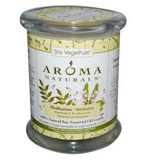 🚚 Aroma Naturals 100% Soy Pillar Candle Medidation