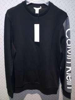 Calvin Klein sweater NWT black /grey arm detail