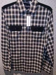 Calvin Klein jeans black check shirt size M