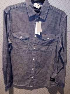 Calvin Klein jeans denim chambray shirt NWT size S