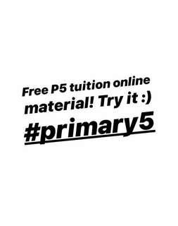 Free P5 Science Tuition Material! ONLINE ACTIVITY click the link in the description!