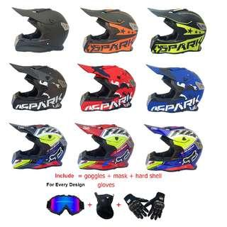 Stylish Off Road Full Face Helmet Scrambler Designs Package - Special Request Service Pre-Order