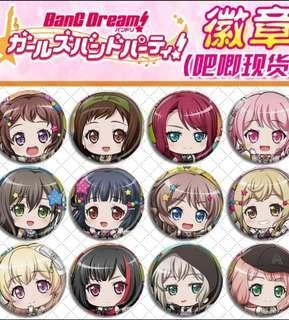 🚚 Bang dream! Anime badges