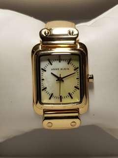 Anne Klein watch for ladies with Gold frame