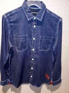 Calvin Klein jeans NWT utility indigo shirt denim size m