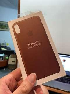iPhone XS Leather Case Saddle Brown