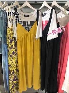 RNA Japan 一件過dress (Black)