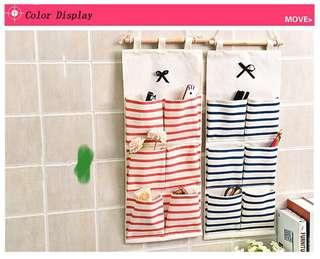 🚚 Living in a multi-layer bag dormitory simple socks bag wardrobe three-dimensional underwear hooks kindergarten kitchen wall