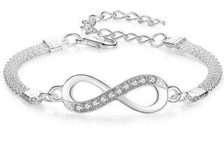 Infinity Bracelet with Crystal Rhinestones