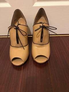 N.Y.L.A peep toe nude heels