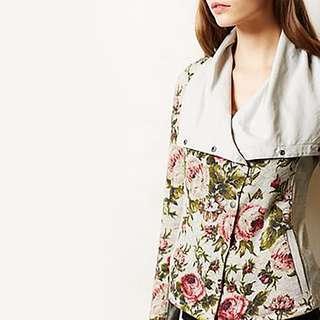 Saturday Sunday Floral Moto Jacket - size Medium - Anthropologie