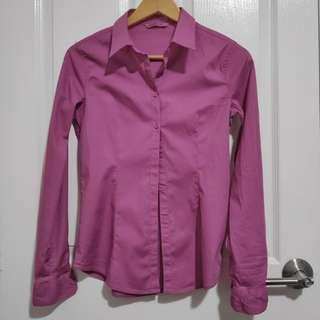 Terranova Button-up Shirt (Mauve/Old Rose)