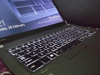 Ultrabook ringan Toshiba Tecra Z40 i7 8GB 14in slim elegan kuencenggg