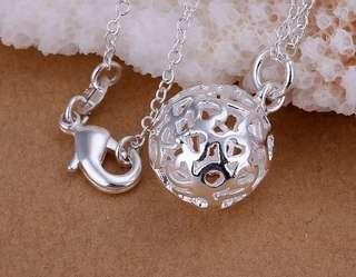 🚚 Silver 925 plated cute small ball necklace