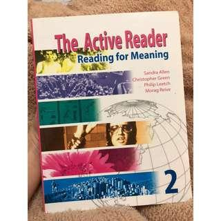 The Active Reader reading for meaning