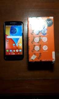 Motorola e4 plus black fullset mulus murah spek dewa