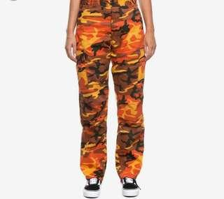 Authentic rothco orange camp pants