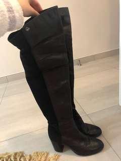 Jipi Japa Black leather boots