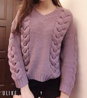 🚚 紫色針織毛衣