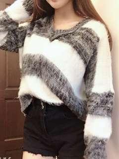 🚚 V領針織毛衣