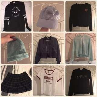 Clothing Bundle💖 (Forever21, H&M, Hollister, ARDENE etc.)