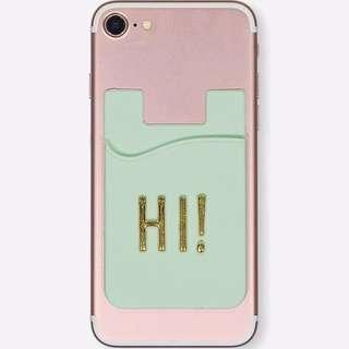 Rubi adhesive phone card holder with alphabet sticker