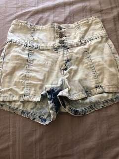High Wasted Denim Shorts