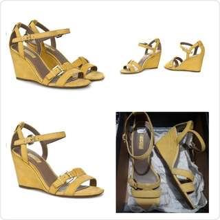 New Ecco Sepatu High Heels Wedges