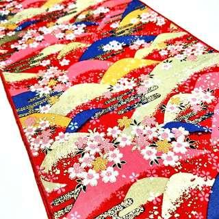 Fundoshi 02 Traditional Japanese Pattern MOUNTAIN RED & GOLD