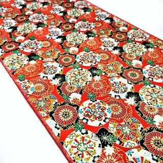 Fundoshi 03 Traditional Japanese Pattern CIRCLES RED & GOLD
