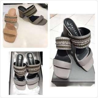 New STACCATO Sepatu High Heels Wedges