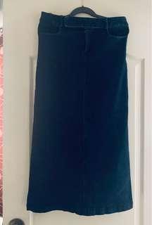 Stretchable Denim Long Skirt