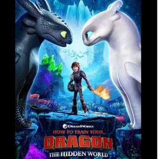 Ticket(s)to Movie How to train the dragon: The Hidden World