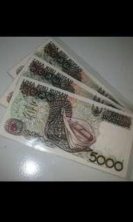 Uang kertas 5000 sasando tahun 1992