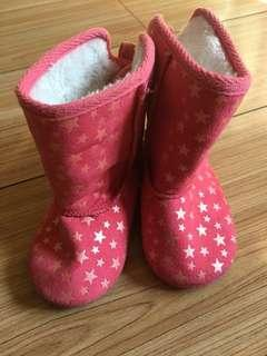 Brand new pink Cotton On boots for kids size 4 for kids