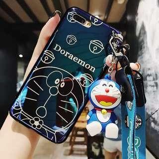 Iphone 7+ Doraemon hp case(Free tempered glass)