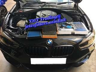 🚚 #jetexfilters_bmw. #jetexfiltersasialink. BMW F20 116D in the house to upgrade Jetex Racing Performance drop in air filter with 1.14 kpa flow rate washable & Reusable...