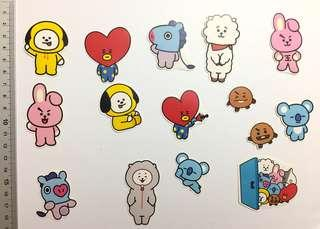 BT21 Sticker Pack (15pcs)